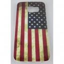 coque samsung galaxy S6 edge drapeau américain usé