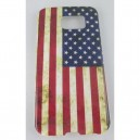 coque samsung galaxy S6 drapeau américain usé
