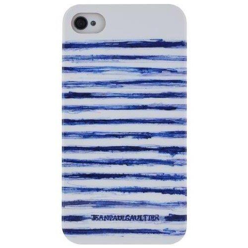 coque iphone 5c jean paul gaultier bleu et blanche mariniere