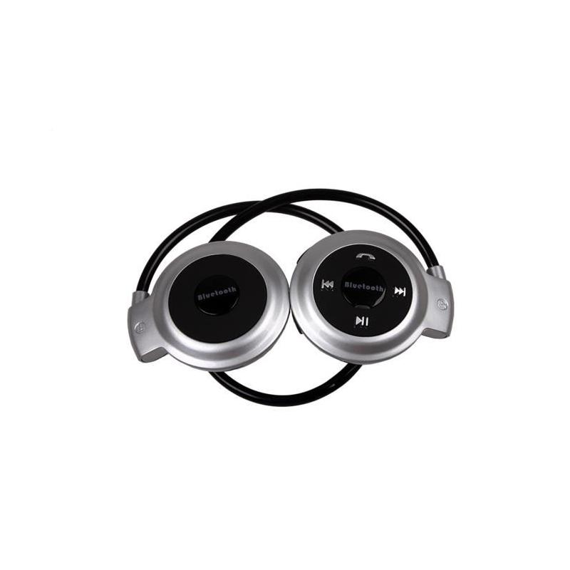 Casque Bluetooth Sans Fil Argent Pour Le Sport Compatible Tout