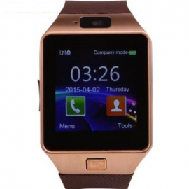 montre connectée smart watch GSM appareil photo et video pour Android et IOS Marron/or smartwatch