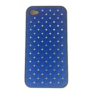 Coque Strass Iphone 4 / 4s Bleu