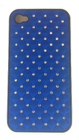Coque Iphone 4/ 4S Bleu avec strass