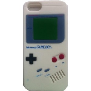 Coque IPhone 5/5S blanche game boy silicone