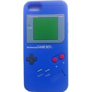 Coque IPhone 5 bleu foncé game boy