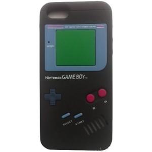 Coque Silicone Game boy Iphone 5 noire
