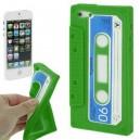 Coque Cassette Iphone 5 vert