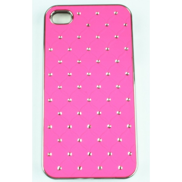 coque iphone 4 4s rose strass