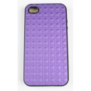Coque iphone 4 /4s violette semi rigide
