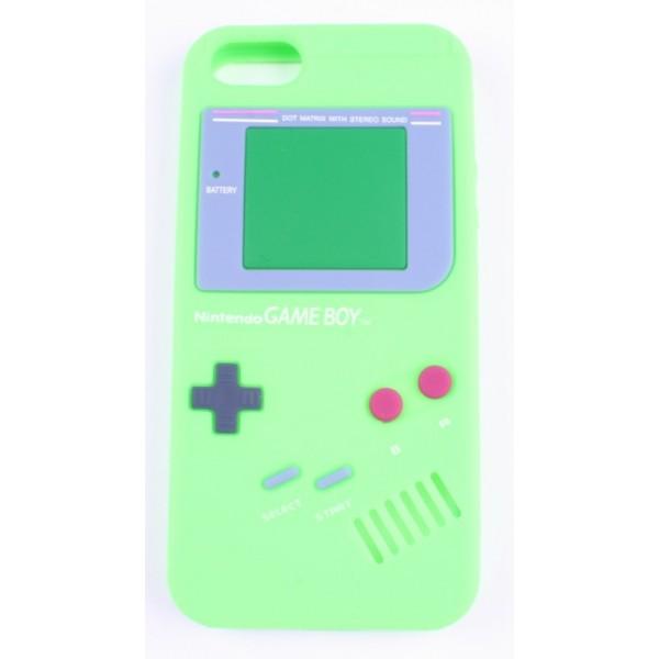 Coque iphone 5 game boy verte silicone - Accessoire Discount