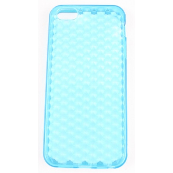 coque iphone 5 bleu ciel silicone effet nid d 39 abeille accessoire discount. Black Bedroom Furniture Sets. Home Design Ideas