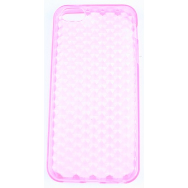 coque iphone 5 rose pale silicone effet nid d abeille