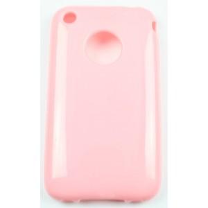 Coque Iphone 3G / 3GS rose silicone