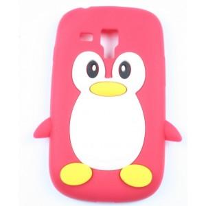 Coque samsung galaxy s3 mini rouge pingouin silicone