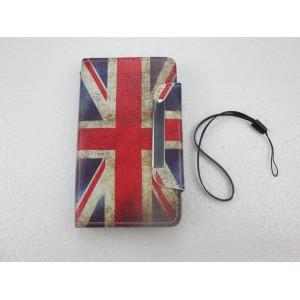 étui portefeuille nokia lumia 520 drapeau anglais usé avec rangement carte